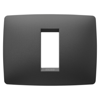 ONE PLATE - IN PAINTED TECHNOPOLYMER - 1 MODULE - SATIN BLACK - CHORUS