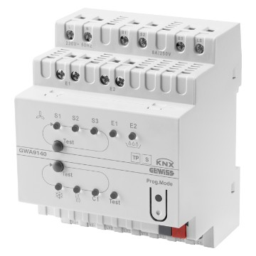 KNX fan coil actuator - IP20 - DIN rail mounting