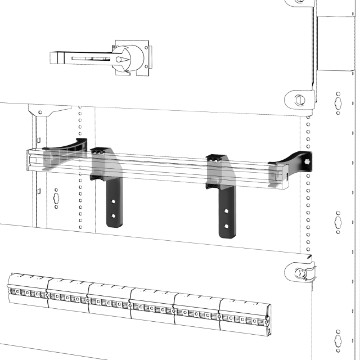 Pair of DIN rail mounting brackets