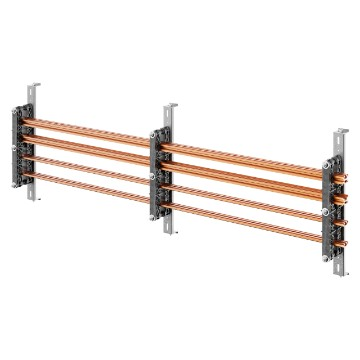 Pair of busbar-holders for vertical copper shaped busbars for QDX 1600H distribution boards