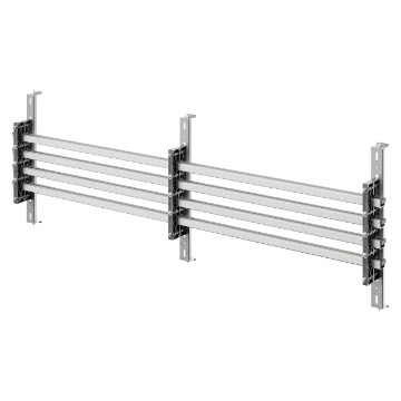 Pair of busbar-holders for vertical aluminium shaped busbars for QDX 1600H distribution boards